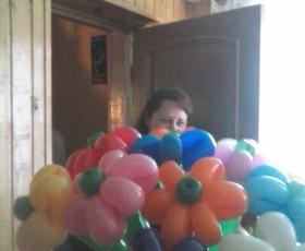 Цветы из шаров, заказать шары