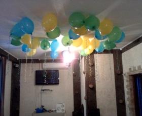 оформление шарами, потолок