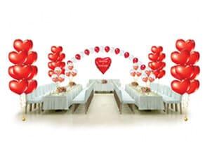 оформление свадеб гелиевыми шарами