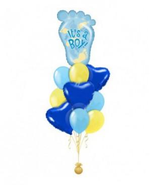 Оформление букетами из шаров У вас родился мальчик