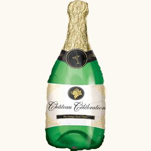 Оформление зала шар фольгированный в виде бутылки шампанского