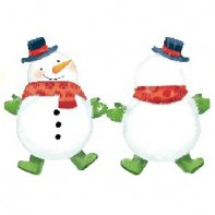 Оформление зала шар в виде Снеговика