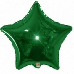 Оформление зала шар мини-звезда зеленая