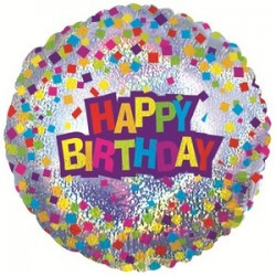 Украшение на праздник голография с днем рождения