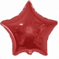 Оформление зала шар микрозвезда красны с металлическим блеском
