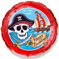 Украшение на праздник шар с пиратами на день рождения