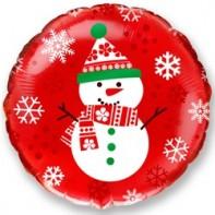 Оформление новогоднего зала фигура снеговик фольгированный