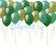 Оформление зала на 23 февраля камуфляжные шары