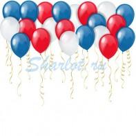 Оформление зала на 23 февраля патриотические шары под потолок