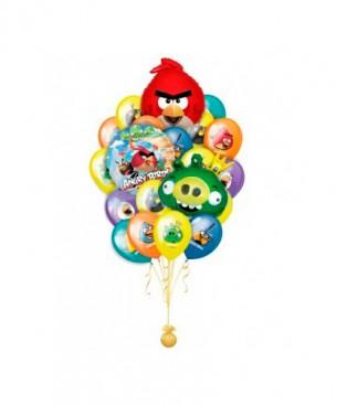 Оформление букетами из шаров Angry Birds