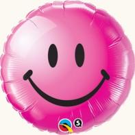 Оформление зала на 8 марта шар фольгированный розовый улыбка