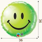 оформление зала на 8 марта фольгированная с улыбкой зеленая