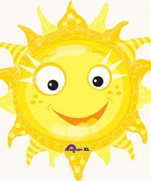 Украшение на праздник шар фигурой солнышка с лучами