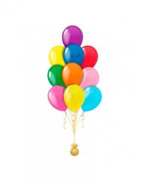 Оформление букетов из цветов разноцветная пастель классический вариант