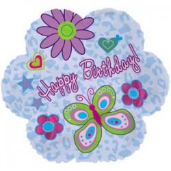 Украшение на праздник шар фигура ромашки С днем рождения