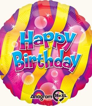 Украшение на праздник С днем рождения мыльные пузыри