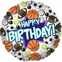 украшение на праздник шар С днем рождения спортивный