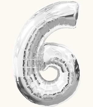 Украшение на праздник шар в виде цифры 6