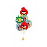 Оформление букетов из шаров Angry Birds красные