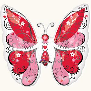 Оформление зала на 8 марта бабочка красная