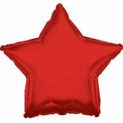 Оформление зала шар в виде звезды красный