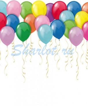 Украшение на праздник шарики под потолок разноцветные обычные
