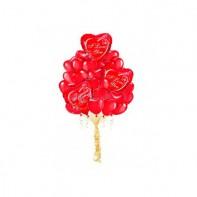 Воздушные шары в виде сердца красного цвета