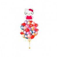 Оформление зала шарами Hello Kitty