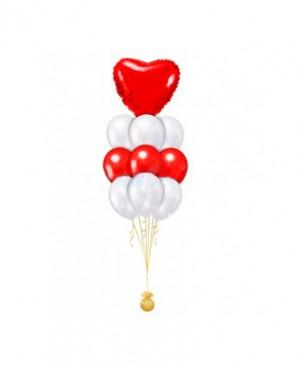 Оформление букетов из шаров классика с сердцем