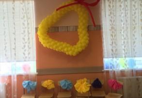 оформление шарами помещений