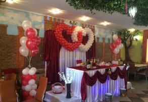 Украшение шарами свадеб
