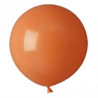 шары оранжевые пастель