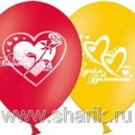 Оформление зала на день Валентина
