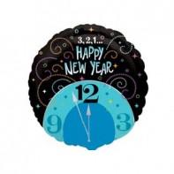 Новогоднее оформление зала шар в виде часов