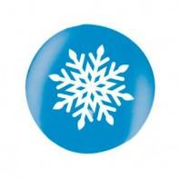 офомление новогоднего зала шары со снежинками