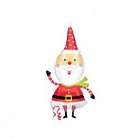 Оформление новогоднего зала Забавный Санта
