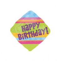 Украшение на праздник шарик с полосками с днем рождения