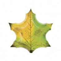 Шар для оформления школьного праздника кленовый лист