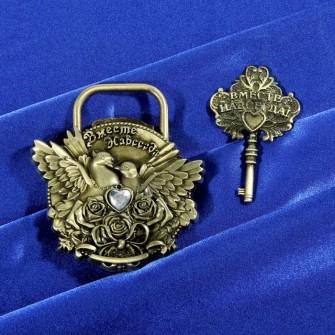 Свадебные аксессуары замок свадебный с ключом Вместе навсегда